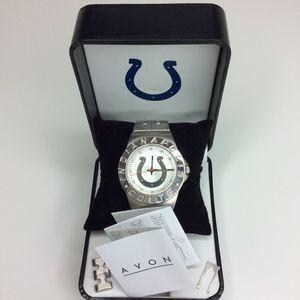 Avon NFL Watch Indianapolis Colts Silver Quartz